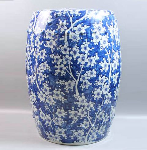RYZS01_Counter stools Ceramic Blue and White floral Stool