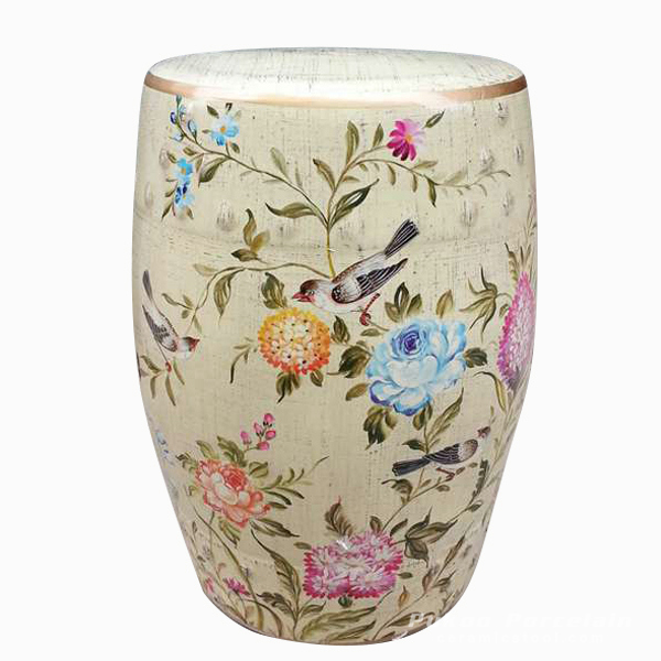Flower bird porcelain Barstools