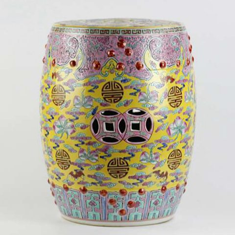 RZAI01_Famille rose Qing Dynasty syle ceramic stool