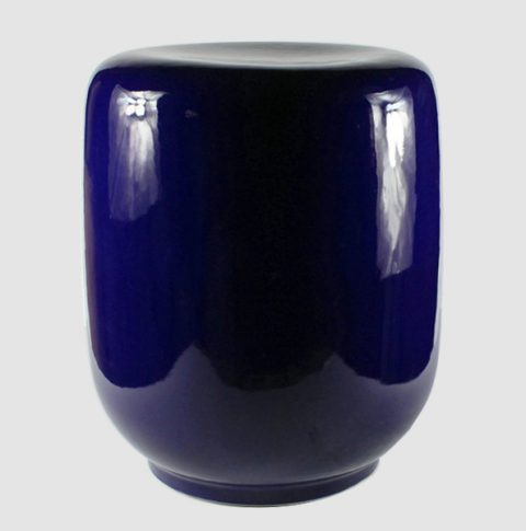 RYNQ141_Navy Blue outdoor ceramic garden stool morden