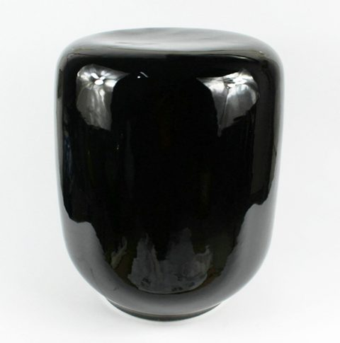 RYNQ145_black ceramic garden stool