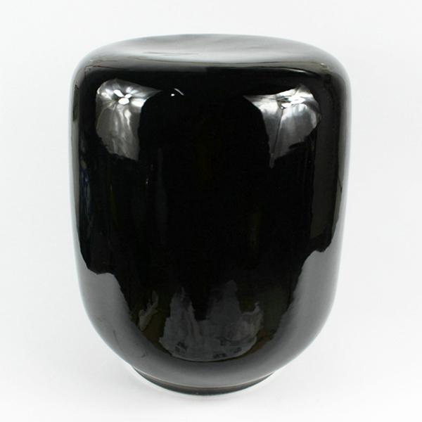 Rynq145 Black Ceramic Garden Stool All Ceramic Stool