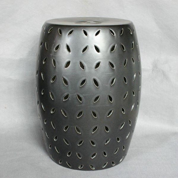 RYNQ81_Modern Lattice Ceramic Garden Stool