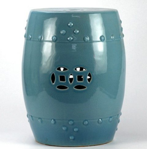 RYYV01-B_chinese high temperature blue Crackle garden stool