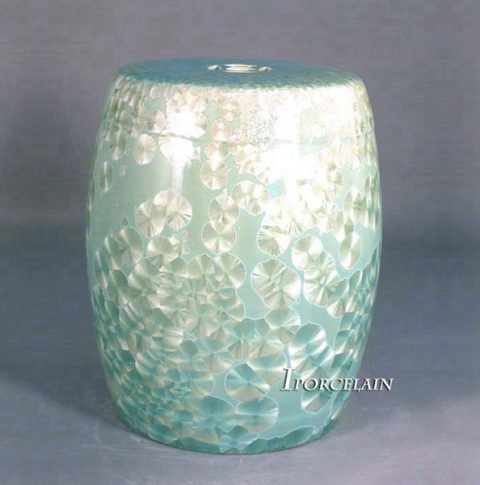 RYYX01-B_Blue crystaline glaze chinaware patio stools