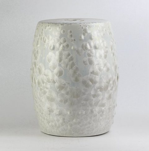 RYYX01_ white crystaline glaze chinaware patio stools