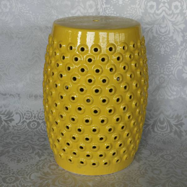 RYZS12_H17.7″ Yellow benches Ceramic Stool