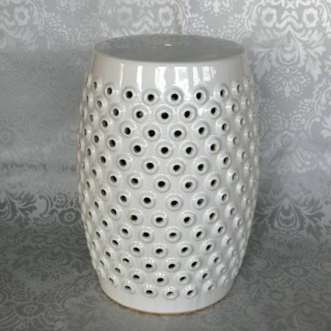 RYZS13_ H17.7″ Garden furniture White Stool