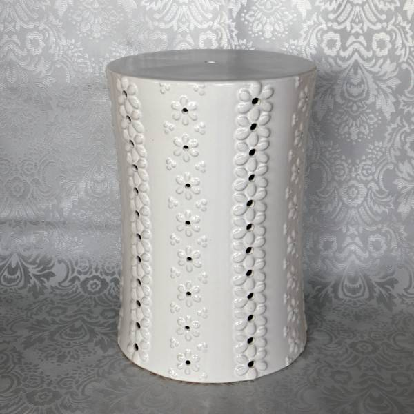 RYZS22_Bedroom bench porcelain stool,white garden stool