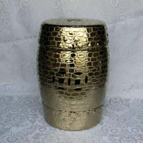 RYZS34 _Bar furniture Ceramic Stool,Gold-plated garden stool