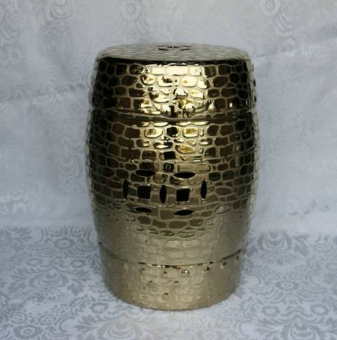 RYZS34 _Bar furniture Ceramic Stool,Gold-plated garden stool