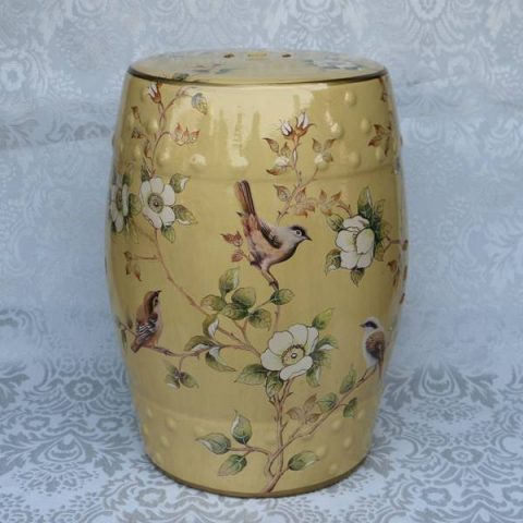 RYZS47_Porcelain chinese garden stools flower bird