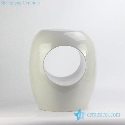 white hollow o-ring porcelain stool