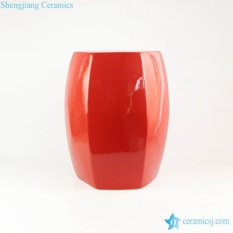 red porcelain  stool