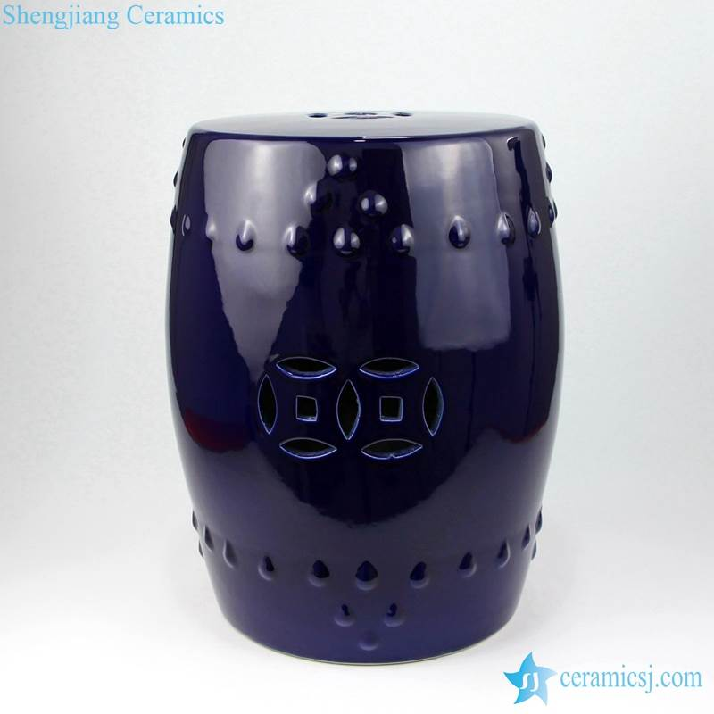 purple stool with hollow decoration