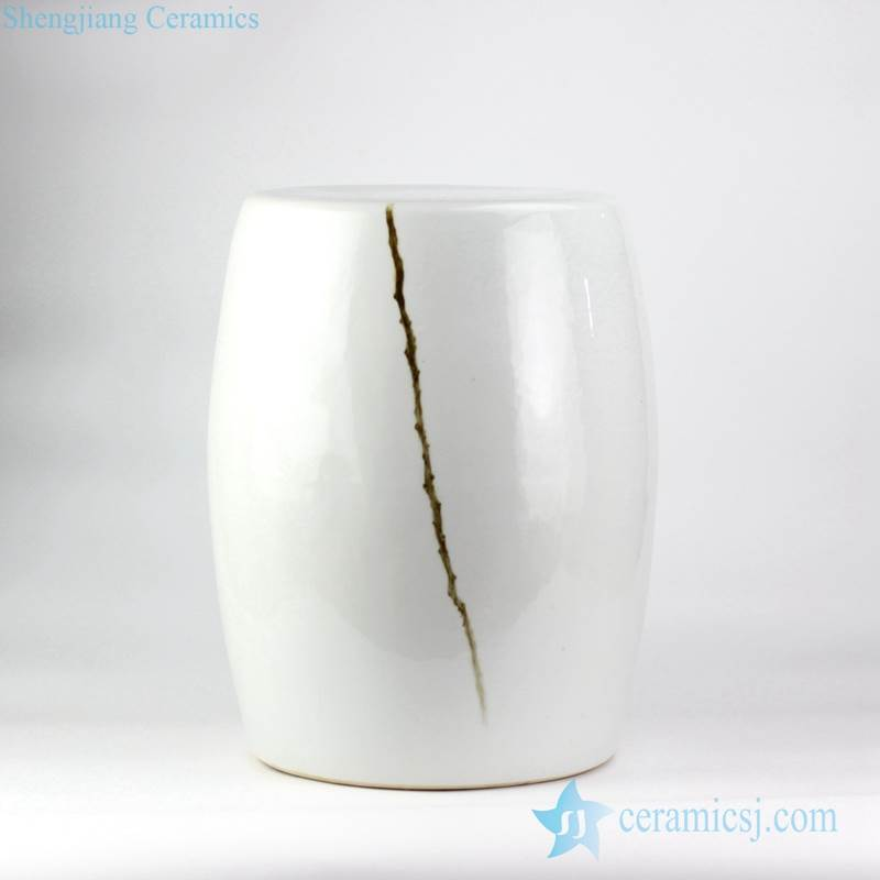 hand paint branch pattern beside couch end table application white porcelain ornament ottoman