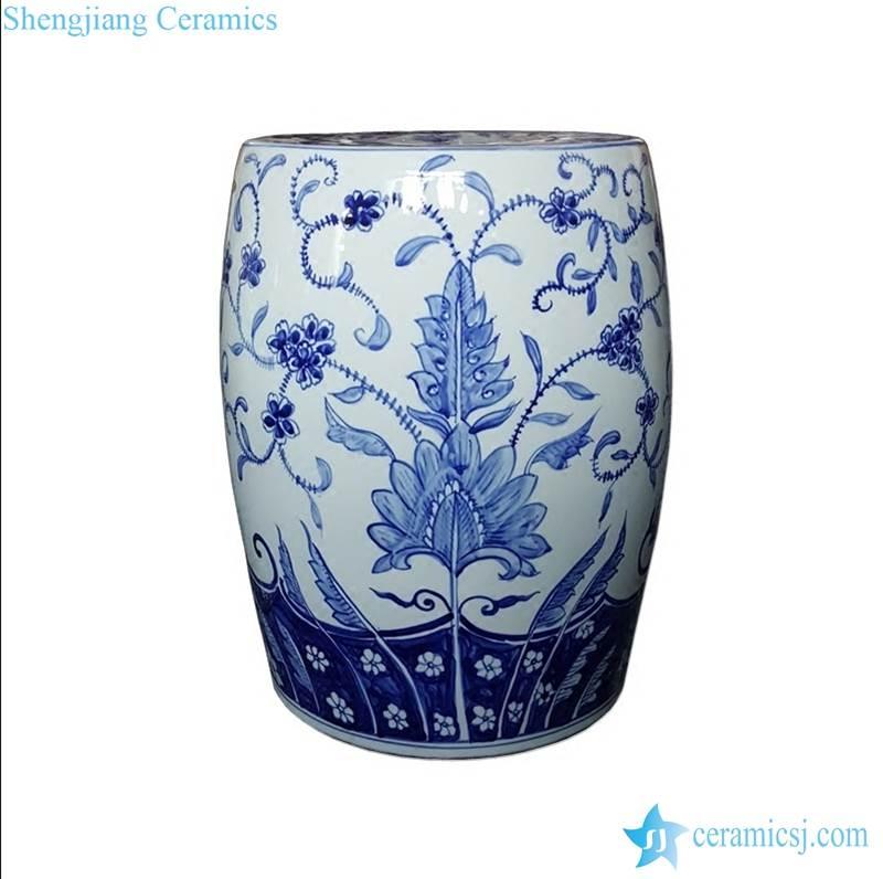 floral porcelain stool