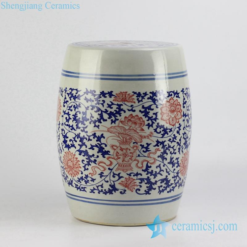 blue and white porcelain barrel seat