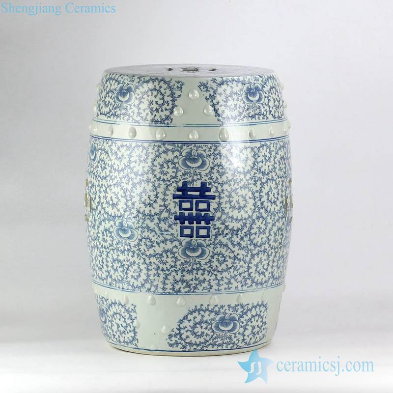 Chinese wedding lawn ceramic stool