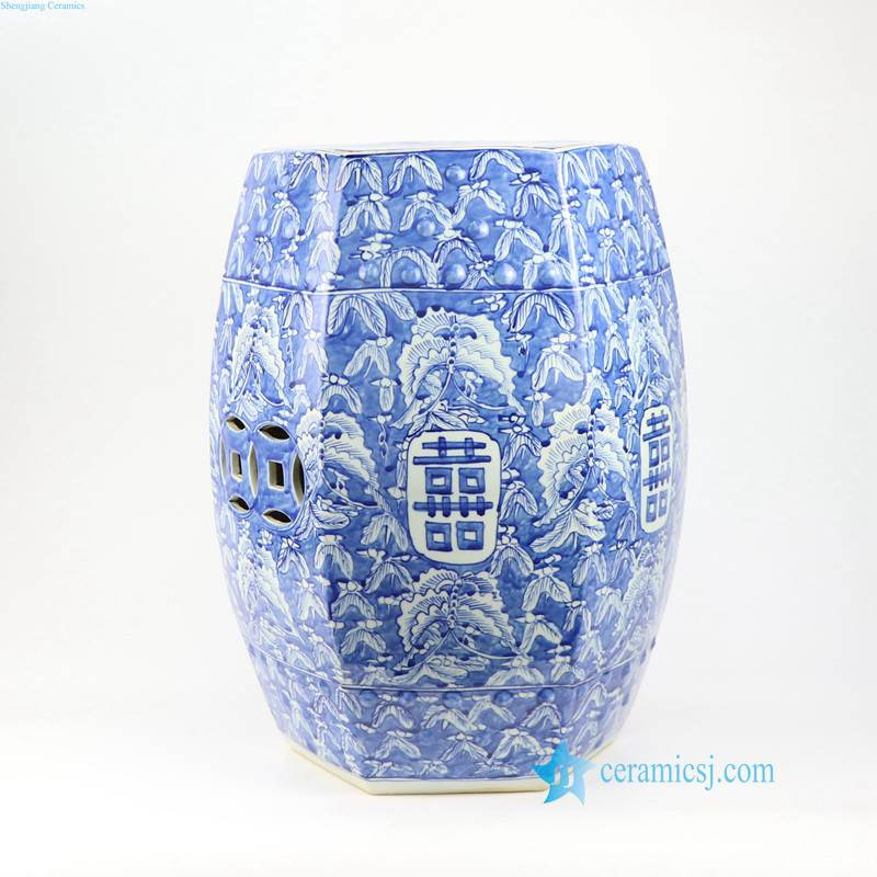BUTTERFLY DOUBLE HAPPINESS CHINA STOOL