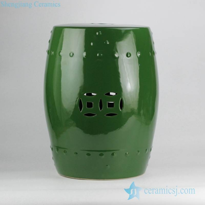 Jungle green plain color ceramic lounge chair