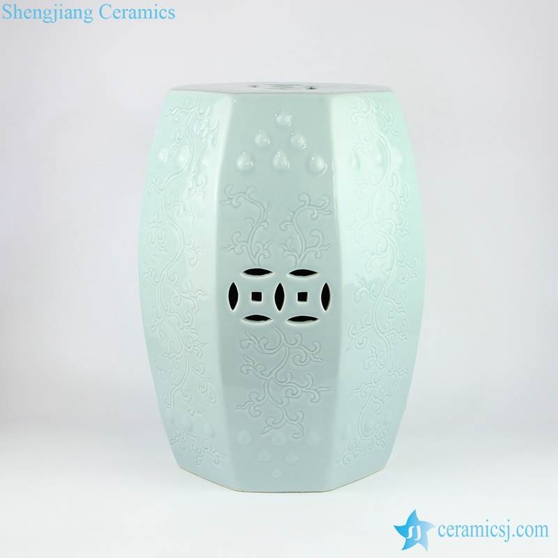 light green ceramic stool