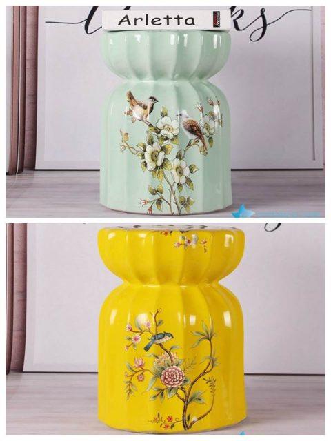 Modern interior design bird floral porcelain medium measurement seat for kids