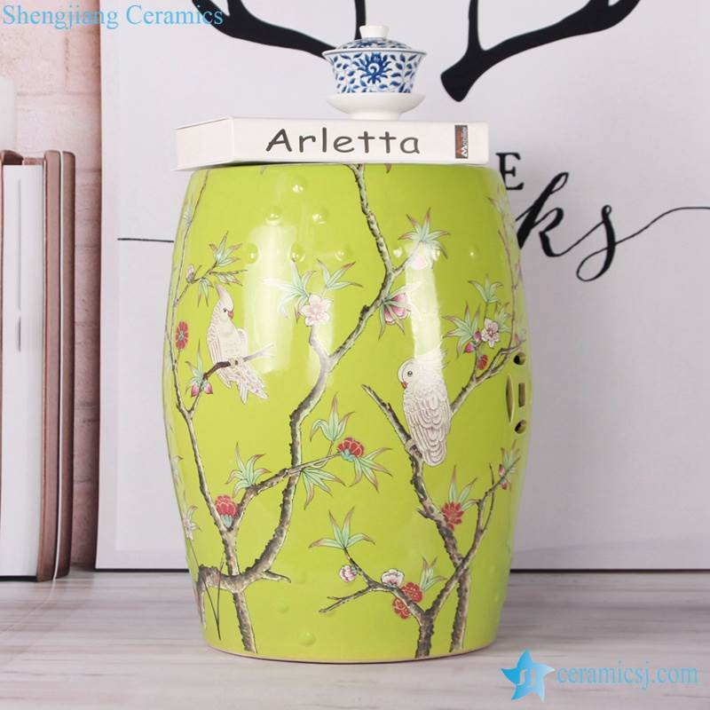 porcelain home decor stool