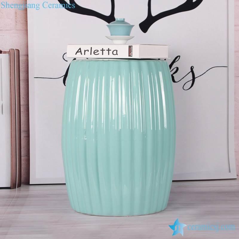 Solid color drape style ceramic barrel seat