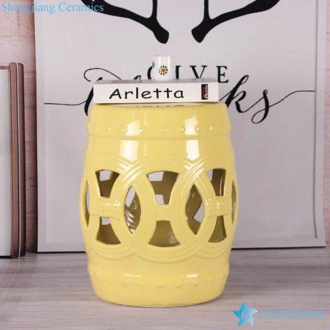 Lemon color glossy ring inspiration stoneware porcelain stool