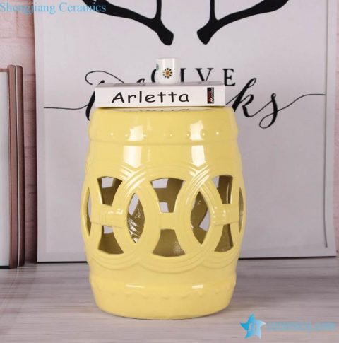 Lemon color glossy ring inspiration stoneware porcelain stool