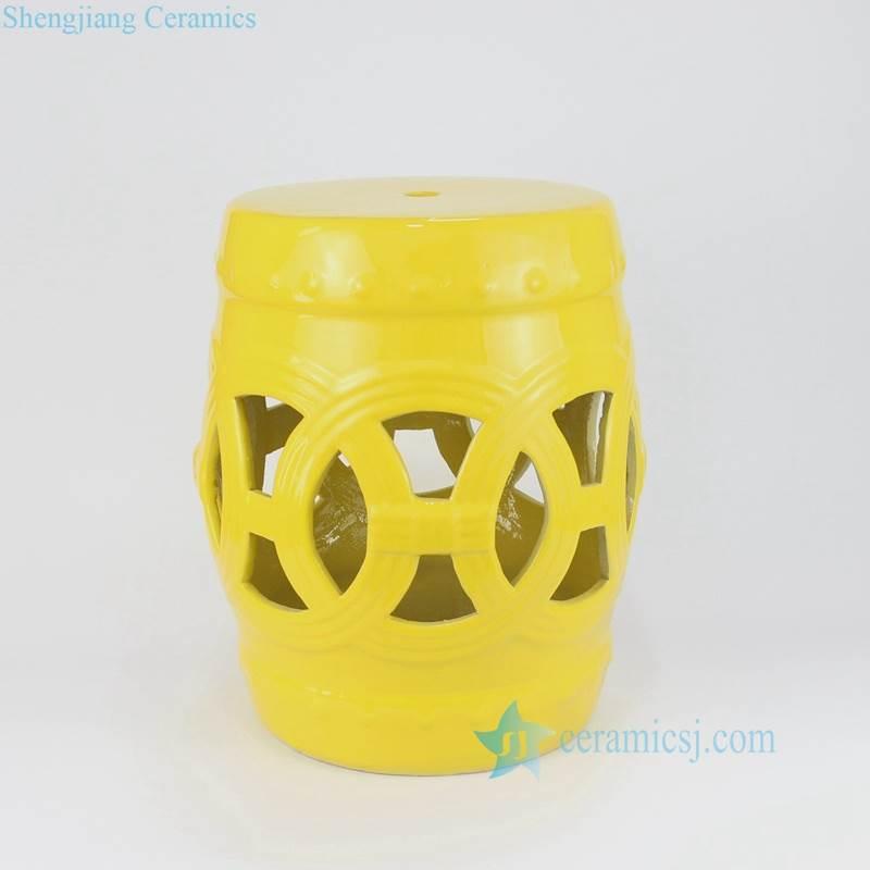 yellow  porcelain stool