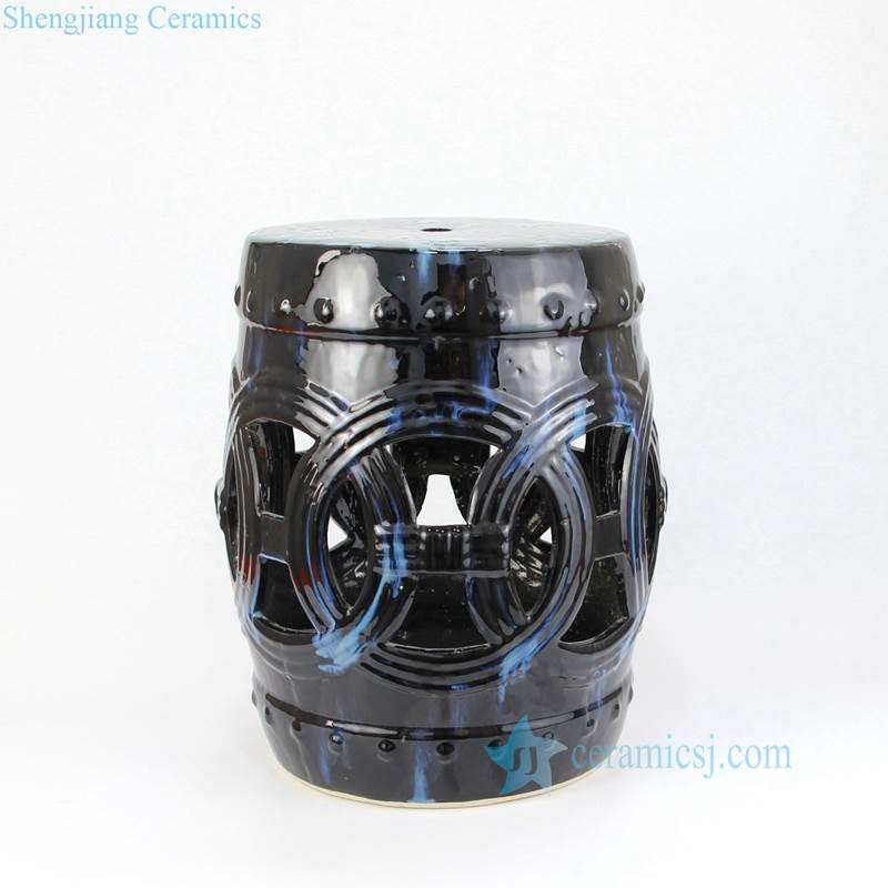 black porcelain seat