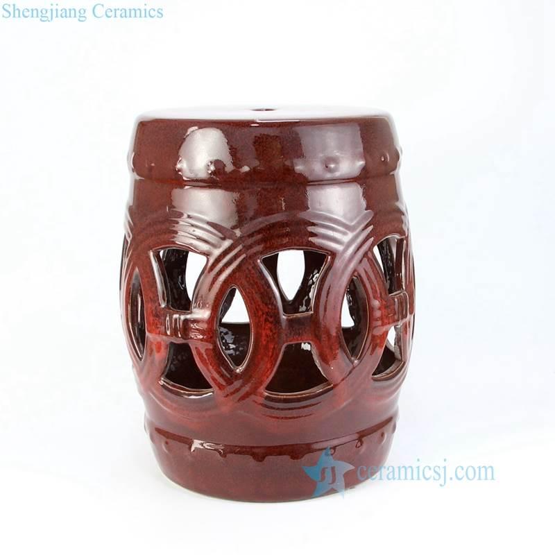rosewood color porcelain seat