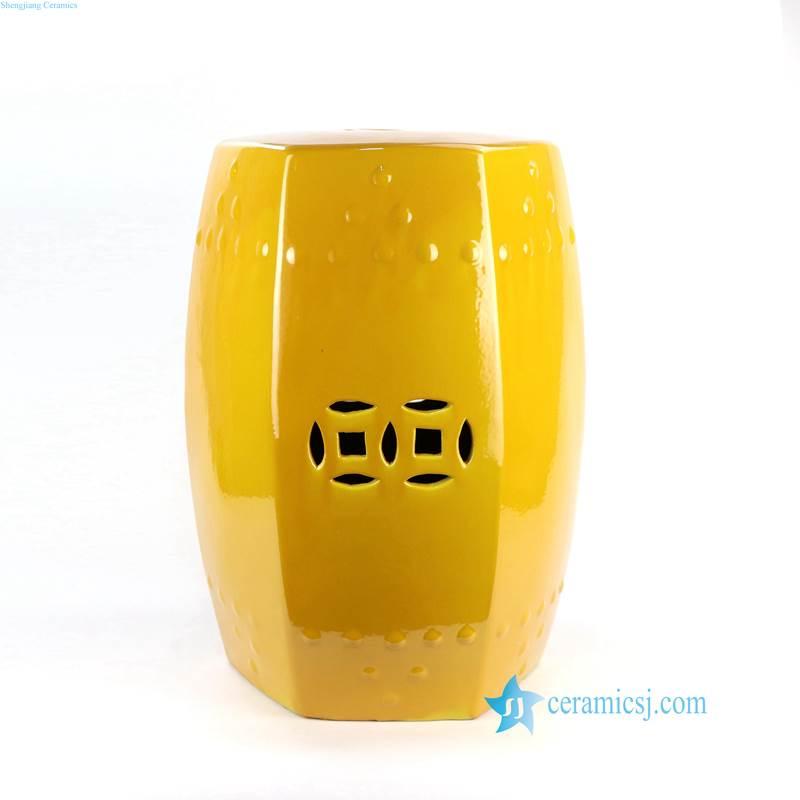 mustard  ceramic seat