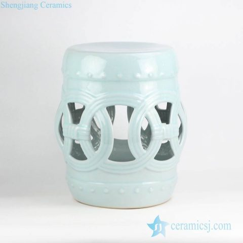Indian ring inspiration mint plain color ceramic stool