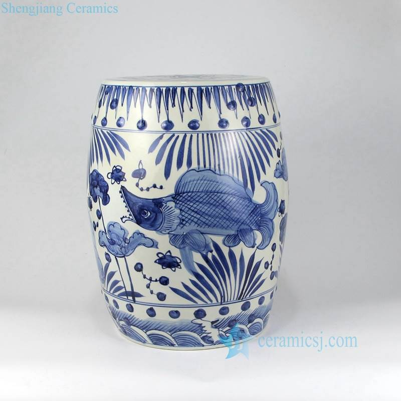 FISH PATTERN PORCELAIN SEAT