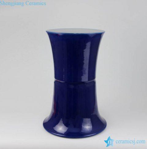 navy blue celadon  ottaman