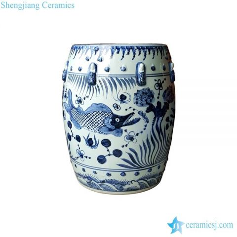 fish ceramic stool