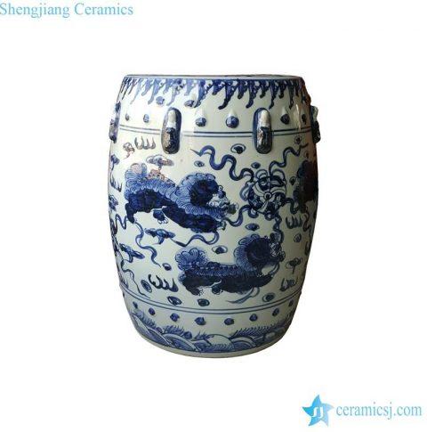 kylin pattern celadon seat