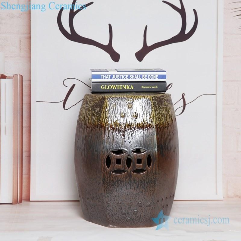 melting brown ceramic seat
