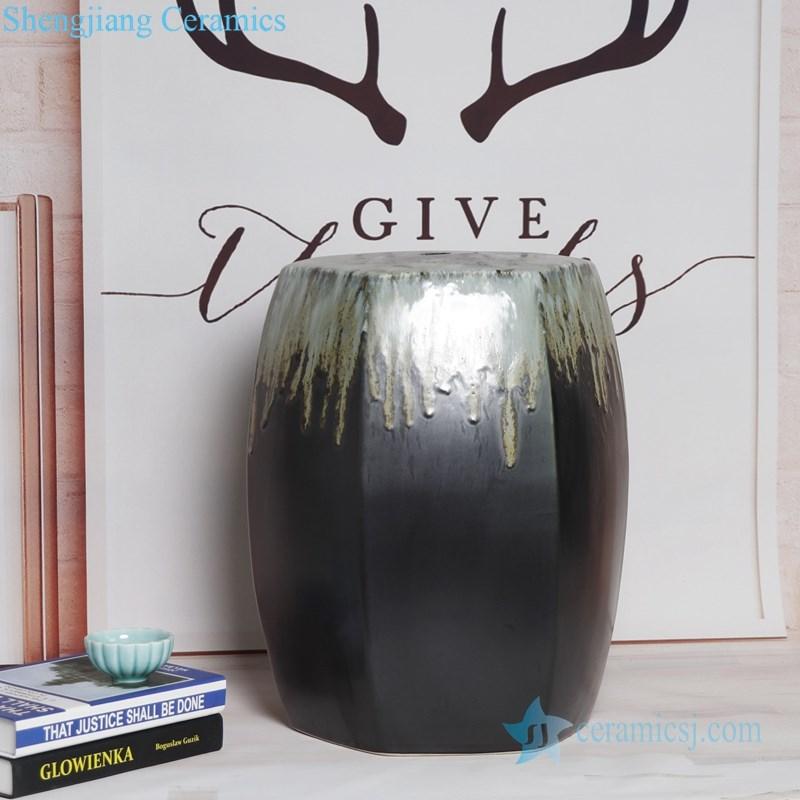 melting black ceramic seat