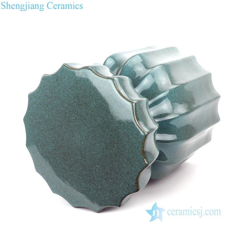 monochrome pure hand porcelain garden stool