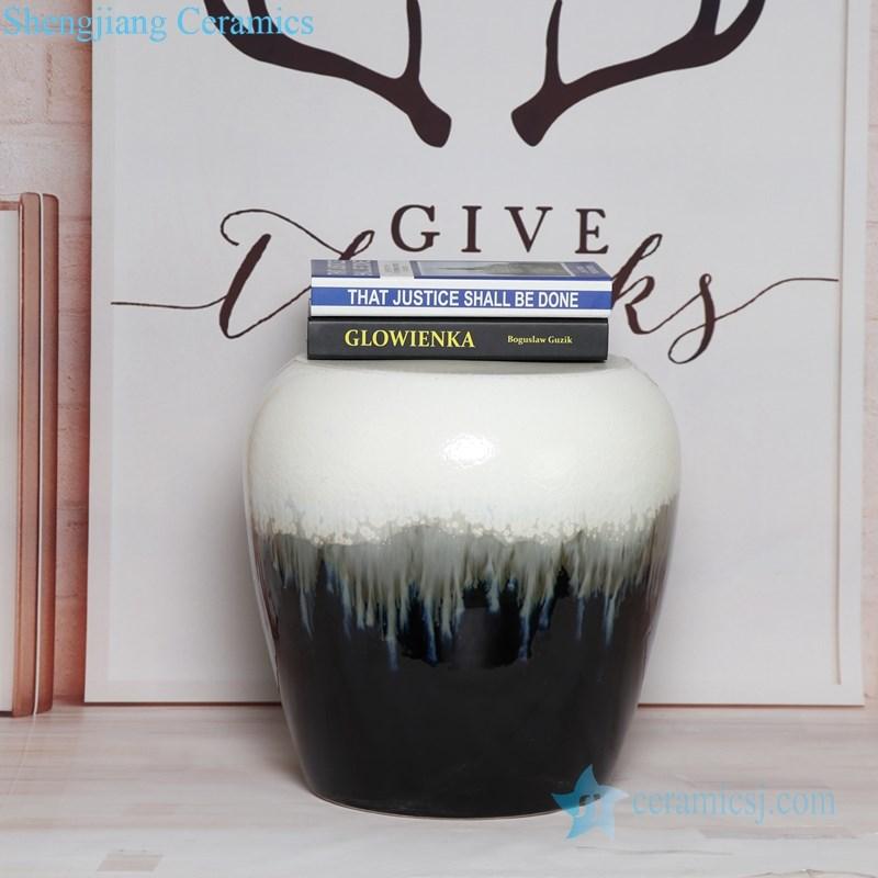 white melting on black porcelain seat