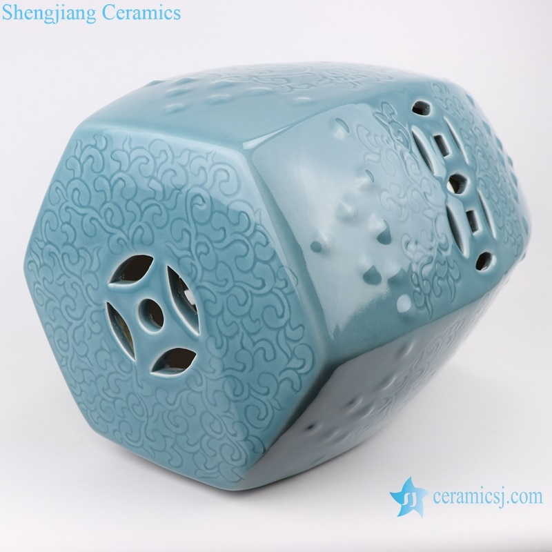 beautiful Chinese style ceramic stool detail