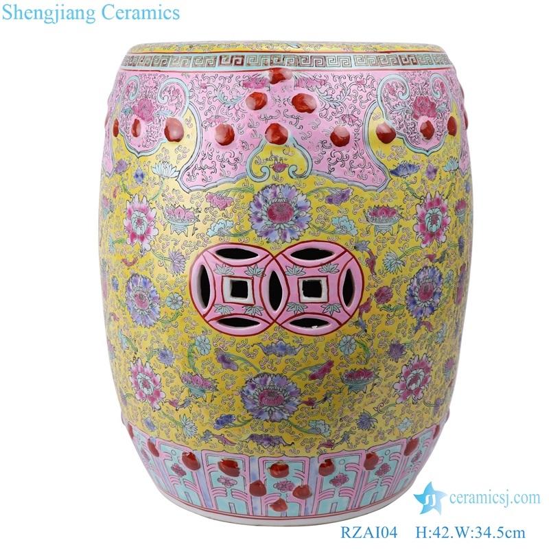 beautiful Jingdezhen Shengjiang ceramic stool