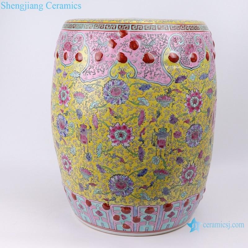 Shengjiang Qing Dynasty syle ceramic stool