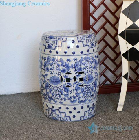 precious ceramic stool