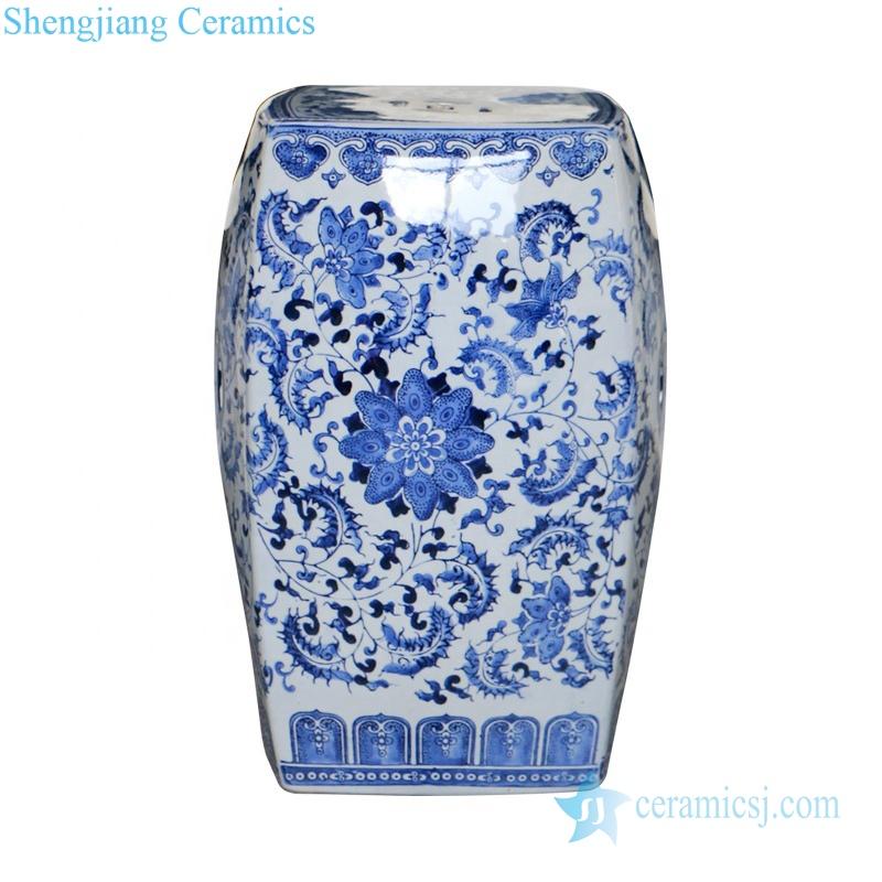 four sides ceramic stool