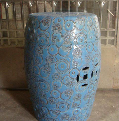 hand carved ceramic stool
